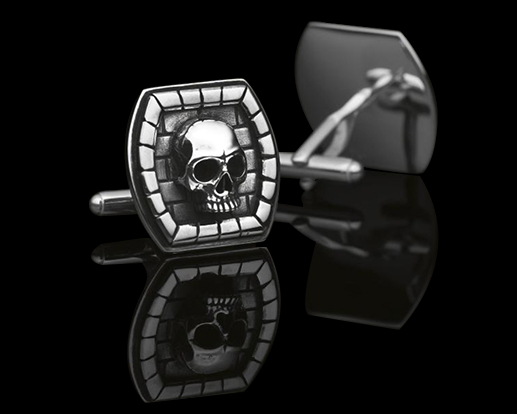 Cuff Links Model I MEMENTO MORI, CARPE DIEM