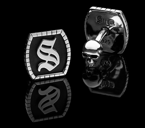 Cuff Links Model II MEMENTO MORI, CARPE DIEM