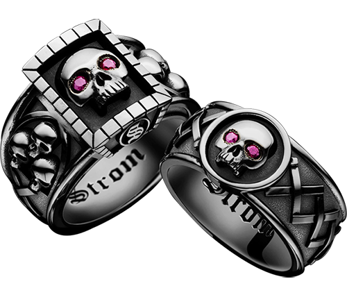 ALLIANCE RING MEMENTO MORI, CARPE DIEM