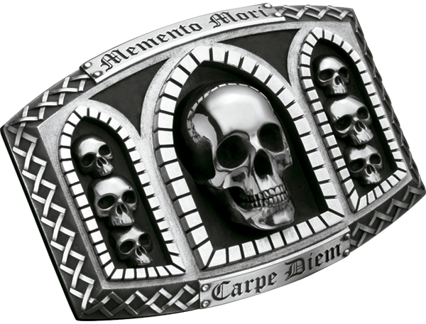 Belt Buckle MEMENTO MORI, CARPE DIEM